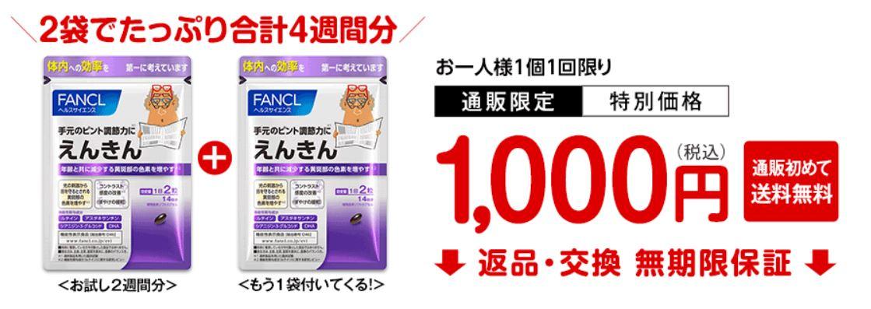 えんきん公式サイトの価格